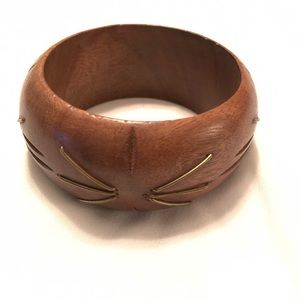 Hand carved wooden bangle